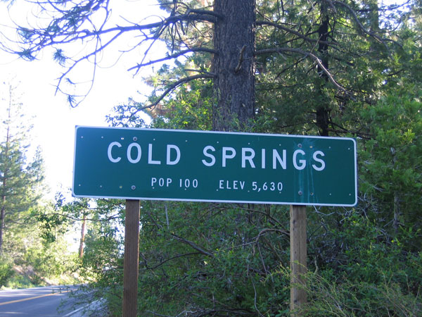 Cold Spring Sign
