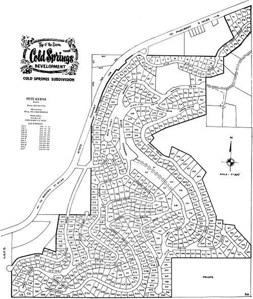 Cold Spring Subdivision Map